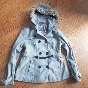 Charlotte Russe women's hooded pea coat